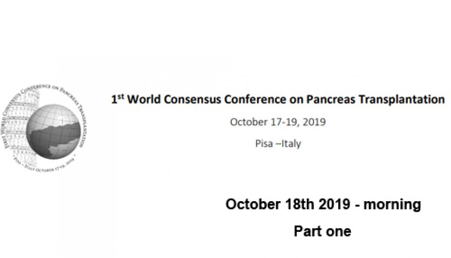 1st World Consensus Conference of  Pancreas Transplantation - Part One