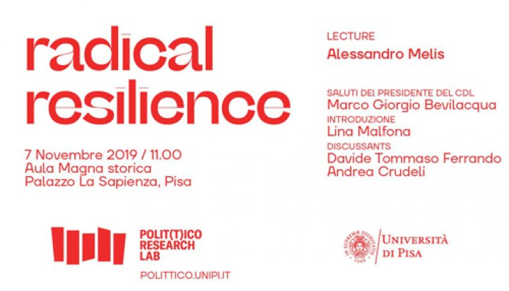 Radical Resilience - Lecture di Alessandro Melis