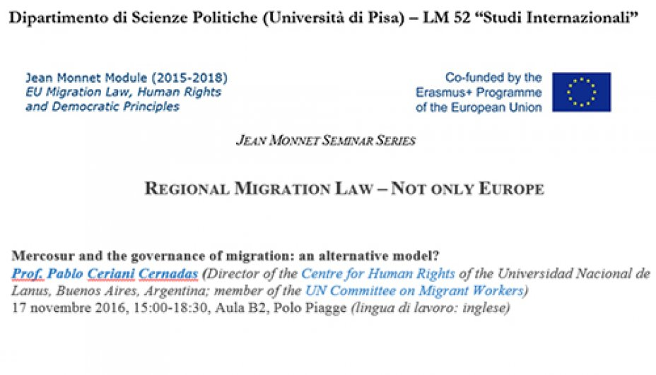 Not only Europe - The Experience of Mercosur in the Governance of Migration