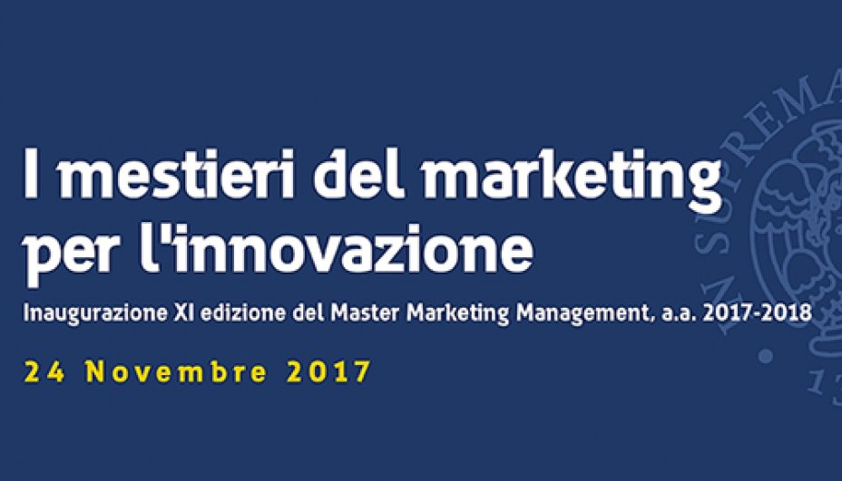 Inaugurazione Master Marketing Management - 24 novembre 2017