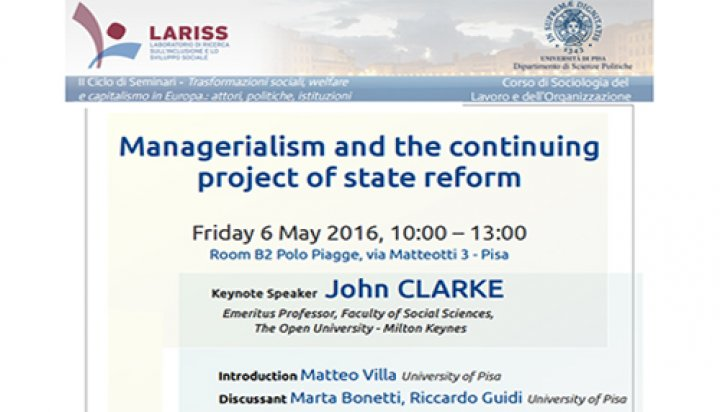 John Clarke - Managerialism and the continuing project of state reform
