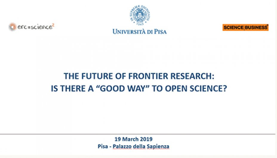 "The future of frontier research: is a ""good way"" to open science?"
