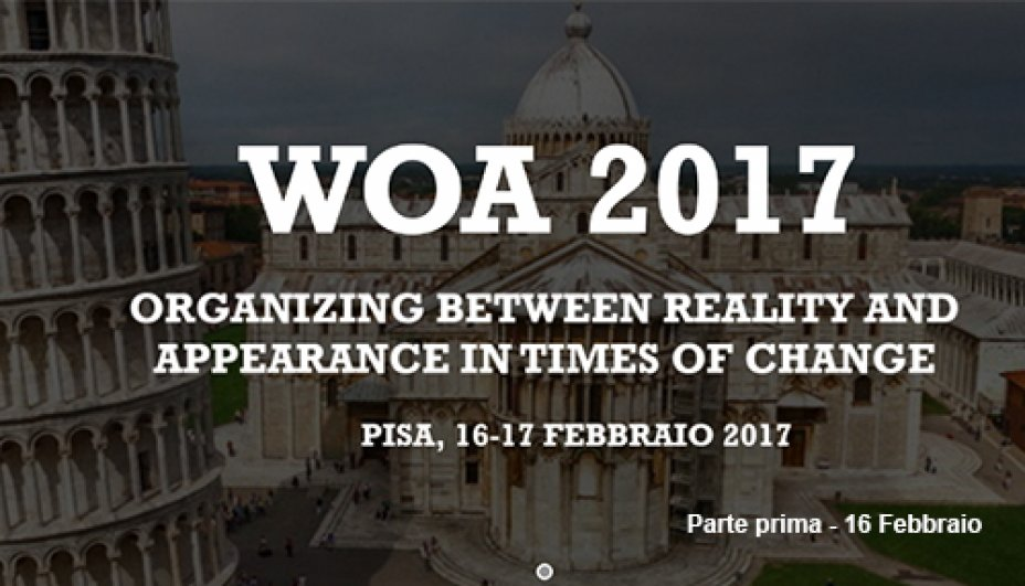 WOA 2017 - Organizing between reality and appearence in times of change - part one